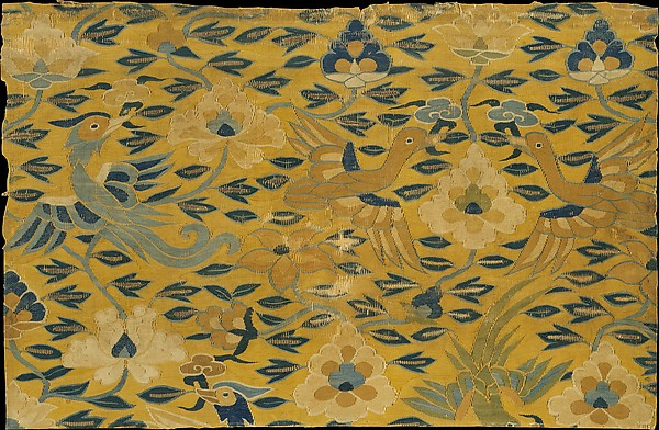 Scroll Cover with Birds and Flowers