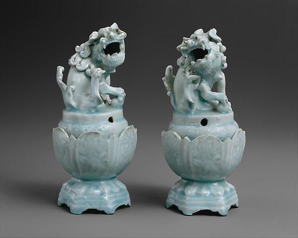 Incense Burner in Shape of Lion (one of a pair)