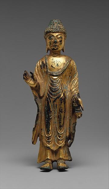 금동여래입상 통일신라   <br/>金銅如來立像 統一新羅<br/>Standing Buddha