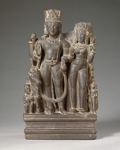 Shiva and Parvati with their Sons Karttikeya and Ganesha and the Calf Bull