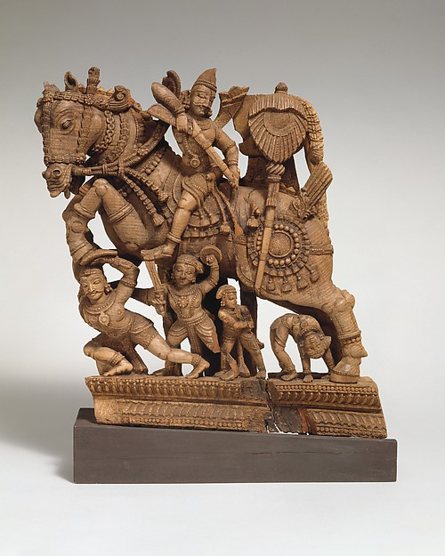 Panel from a Ritual Chariot: A Warrior on Horseback