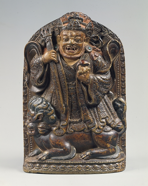 Dharmapala Standing on a Lion