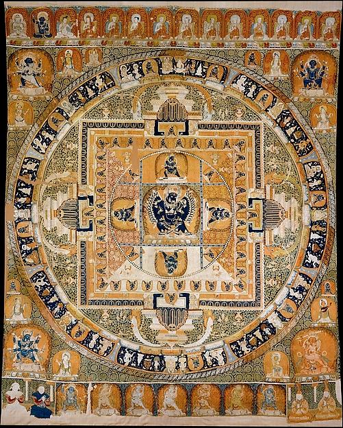元 緙絲大威德金剛曼陀羅<br/>Vajrabhairava Mandala