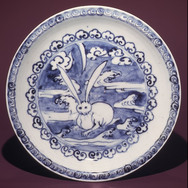 Dish with Design of Hare in Clouds