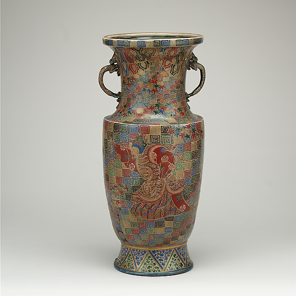 Vase with Depiction of Bugaku Dancer