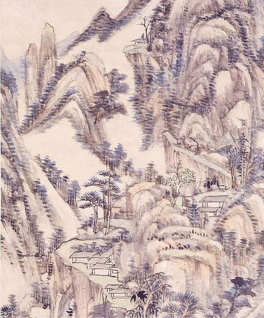 清  王原祁  為瞻亭畫七發妙劑圖  軸<br/>Landscape for Zhanting