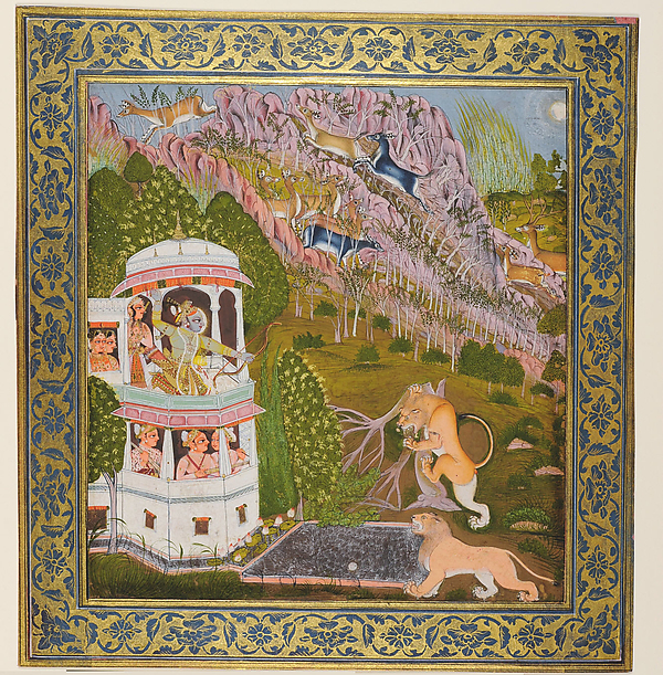 Sri Brijnathji Hunting at Makundgarh