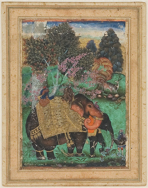 Sultan Ibrahim Adil Shah II Riding His Prized Elephant, Atash Khan