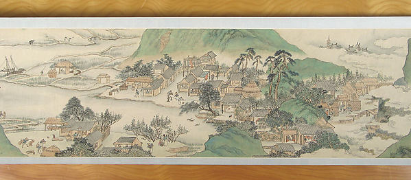 Fascinating Historical Picture of Zhang Hong with /  Peach Blossom Spring in 1638