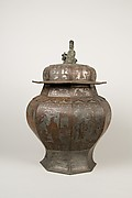 Octagonal covered jar
