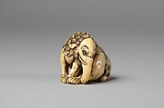 Netsuke of Seated Baku (mythical animal)