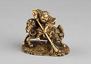 Netsuke of Horse and Rider
