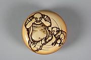 Netsuke of Hotei and Chinese Boy (Karako)