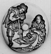 Netsuke with Two Carved Figures