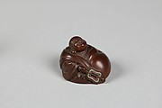 Netsuke of Hotei and Bag