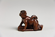 Netsuke of Girl with a Mouse on her Back