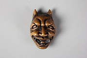 Netsuke of Noh Mask; Namanari