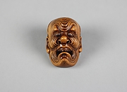 Netsuke of Mask of Old Man's Face