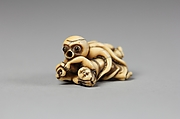 Netsuke of Octopus Attacking a Woman