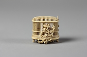Netsuke of Bird Cage