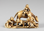 Netsuke of Group of Figures