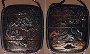 Case (Inrō) with Design of Dragon (obverse); Tiger (reverse)