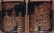 Case (Inrō) with Design of Chrysanthemum and Pawlonia