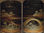 Case (Inrō) with Landscape Design of Sumiyoshi Shrine