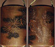 Case (Inrō) with Design of Pine Trees and Snow