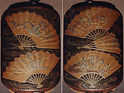 Case (Inrō) with Design of Fans