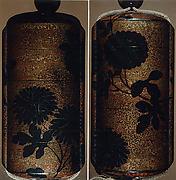 Case (Inrō) with Design of Chrysanthemums