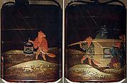 Case (Inrō) with Design of Fox Wedding Procession in Rain
