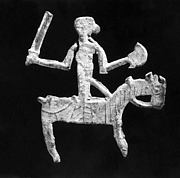 Plaque in the Form of a Horse and Rider