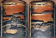 Case (Inrō) with Design of Chōryō and Kōsekikō with Plants, Waves and Clouds