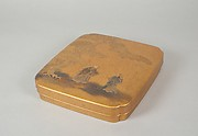 Writing Box with Design of Elderly Couple under Pine from the Noh Play Takasago