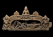 Tympanum Depicting Vishnu Anantasayin and the Birth of Brahma