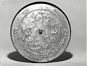 Haguro-kyō Mirror with Relief Design of Birds and Grasses