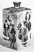 Sake Bottle with Nanban (Southern Barbarian) Design