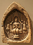Votive Plaque with a Seated Buddha