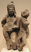 The God Danda and the Goddess Niksubha (Attendants of Surya, the Sun God)