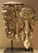 Architectural Panel with Two Kala Heads