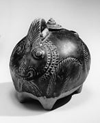 Covered Lime Pot in the Form of a Rabbit
