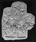 Mold of Figure on Horse with Attendant