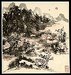 Landscape in the Style of Dong Qichang
