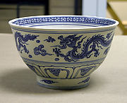 Bowl Decorated with Dragons