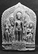 Vishnu Flanked by Lakshmi and Garuda