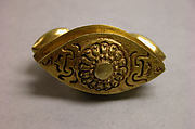 "Ring with Almond-Shaped Bezel with ""Sri"" Inscription"