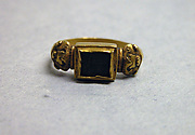 Ring with Inset Rectangular Cut Stone