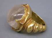 Ring with Circular Clear Stone