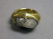 Ring with Inset Clear Stone
